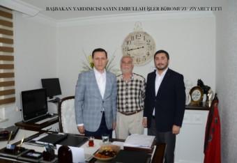 Başbakan Yardımcısı Sayın Emrullah İşler Büromuzu Ziyaret Etti